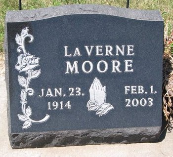 MOORE, LAVERNE - Turner County, South Dakota   LAVERNE MOORE - South Dakota Gravestone Photos