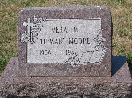 MOORE, VERA M. - Turner County, South Dakota | VERA M. MOORE - South Dakota Gravestone Photos