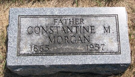 MORGAN, CONSTANTINE M. - Turner County, South Dakota | CONSTANTINE M. MORGAN - South Dakota Gravestone Photos