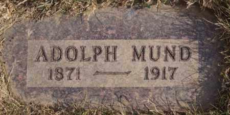 MUND, ADOLPH - Turner County, South Dakota   ADOLPH MUND - South Dakota Gravestone Photos
