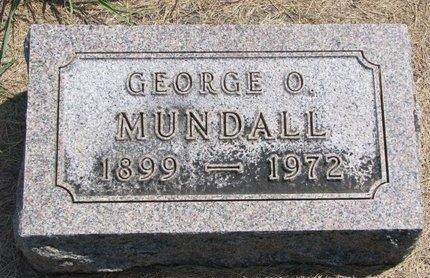 MUNDALL, GEORGE O. - Turner County, South Dakota | GEORGE O. MUNDALL - South Dakota Gravestone Photos