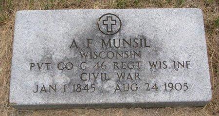 MUNSIL, A.F. (MILITARY) - Turner County, South Dakota | A.F. (MILITARY) MUNSIL - South Dakota Gravestone Photos