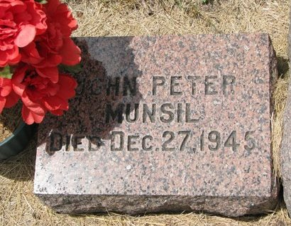 MUNSIL, JOHN PETER - Turner County, South Dakota | JOHN PETER MUNSIL - South Dakota Gravestone Photos