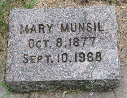 MUNSIL, MARY - Turner County, South Dakota | MARY MUNSIL - South Dakota Gravestone Photos