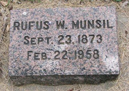 MUNSIL, RUFUS W. - Turner County, South Dakota | RUFUS W. MUNSIL - South Dakota Gravestone Photos
