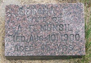 MUNSIL, SOPHIA F. - Turner County, South Dakota | SOPHIA F. MUNSIL - South Dakota Gravestone Photos