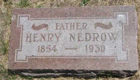 NEDROW, HENRY - Turner County, South Dakota | HENRY NEDROW - South Dakota Gravestone Photos