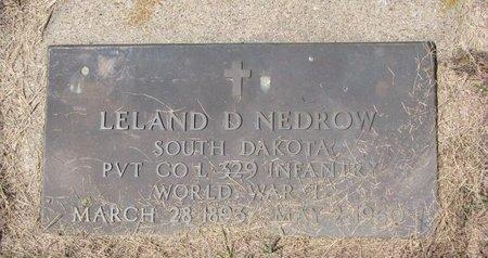 NEDROW, LELAND D. - Turner County, South Dakota | LELAND D. NEDROW - South Dakota Gravestone Photos