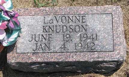 KNUDSON, LAVONNE - Turner County, South Dakota   LAVONNE KNUDSON - South Dakota Gravestone Photos