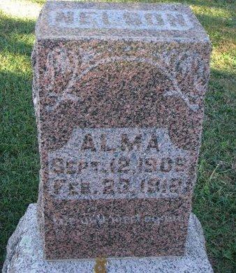 NELSON, ALMA - Turner County, South Dakota | ALMA NELSON - South Dakota Gravestone Photos