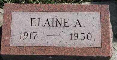 NELSON, ELAINE A - Turner County, South Dakota | ELAINE A NELSON - South Dakota Gravestone Photos