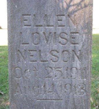 NELSON, ELLEN LOVISE (CLOSE UP) - Turner County, South Dakota | ELLEN LOVISE (CLOSE UP) NELSON - South Dakota Gravestone Photos