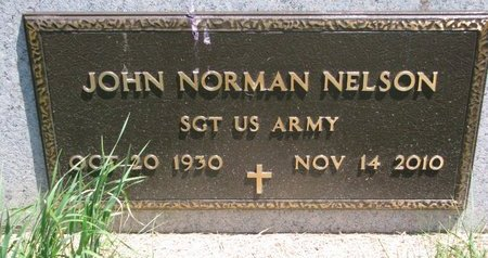 NELSON, JOHN NORMAN (MILITARY) - Turner County, South Dakota | JOHN NORMAN (MILITARY) NELSON - South Dakota Gravestone Photos