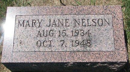 NELSON, MARY JANE - Turner County, South Dakota   MARY JANE NELSON - South Dakota Gravestone Photos