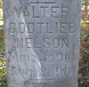 NELSON, VALTER GODTLIEB (CLOSE UP) - Turner County, South Dakota   VALTER GODTLIEB (CLOSE UP) NELSON - South Dakota Gravestone Photos
