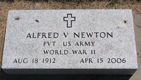 NEWTON, ALFRED V. - Turner County, South Dakota | ALFRED V. NEWTON - South Dakota Gravestone Photos