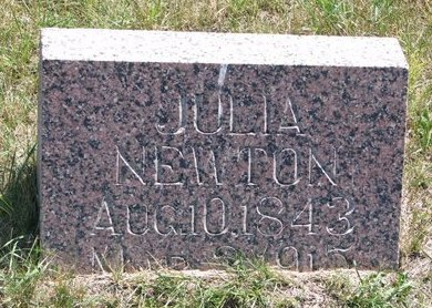 NEWTON, JULIA - Turner County, South Dakota | JULIA NEWTON - South Dakota Gravestone Photos