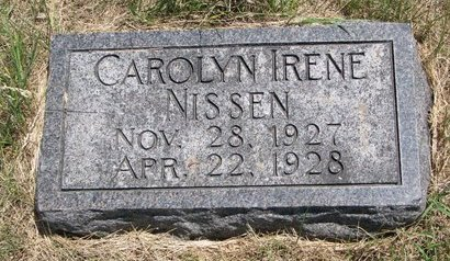 NISSEN, CAROLYN IRENE - Turner County, South Dakota | CAROLYN IRENE NISSEN - South Dakota Gravestone Photos
