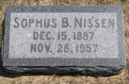 NISSEN, SOPHUS B. - Turner County, South Dakota | SOPHUS B. NISSEN - South Dakota Gravestone Photos