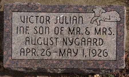 NYGAARD, VICTOR JULIAN - Turner County, South Dakota | VICTOR JULIAN NYGAARD - South Dakota Gravestone Photos