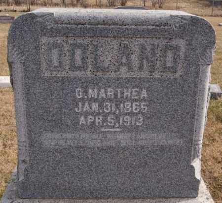 ODLAND, O MARTHEA - Turner County, South Dakota | O MARTHEA ODLAND - South Dakota Gravestone Photos
