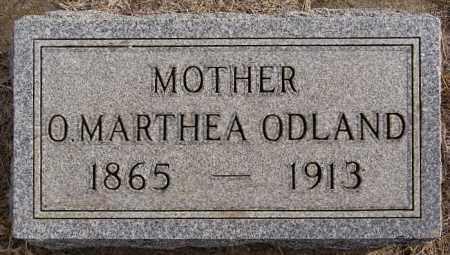 ODLAND, O MARTHEA - Turner County, South Dakota   O MARTHEA ODLAND - South Dakota Gravestone Photos