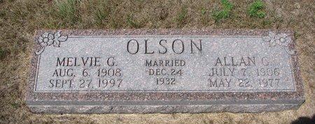 OLSON, ALLAN G. - Turner County, South Dakota   ALLAN G. OLSON - South Dakota Gravestone Photos