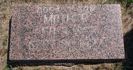OLSON, DORA - Turner County, South Dakota | DORA OLSON - South Dakota Gravestone Photos