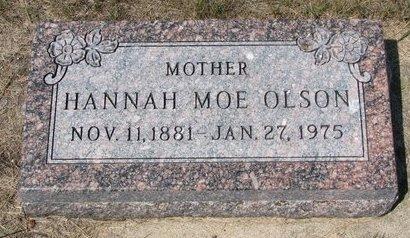 MOE OLSON, HANNAH - Turner County, South Dakota   HANNAH MOE OLSON - South Dakota Gravestone Photos