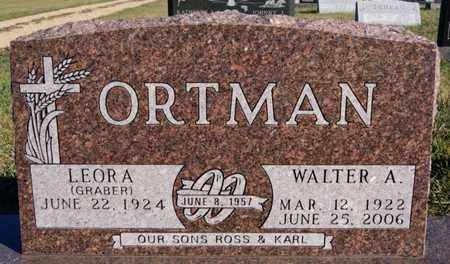 ORTMAN, WALTER A - Turner County, South Dakota   WALTER A ORTMAN - South Dakota Gravestone Photos