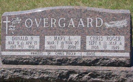 OVERGAARD, DONALD N. - Turner County, South Dakota | DONALD N. OVERGAARD - South Dakota Gravestone Photos