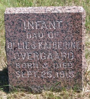 OVERGAARD, INFANT DAUGHTER - Turner County, South Dakota | INFANT DAUGHTER OVERGAARD - South Dakota Gravestone Photos