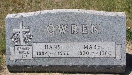 OWREN, HANS - Turner County, South Dakota | HANS OWREN - South Dakota Gravestone Photos