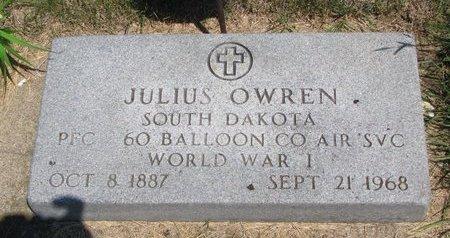 OWREN, JULIUS - Turner County, South Dakota | JULIUS OWREN - South Dakota Gravestone Photos