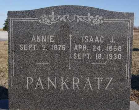 PANKRATZ, ANNIE - Turner County, South Dakota | ANNIE PANKRATZ - South Dakota Gravestone Photos