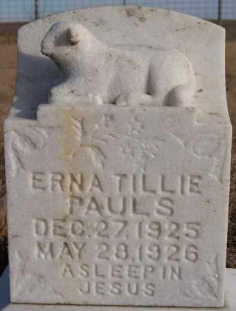 PAULS, ERNA TILLIE - Turner County, South Dakota   ERNA TILLIE PAULS - South Dakota Gravestone Photos