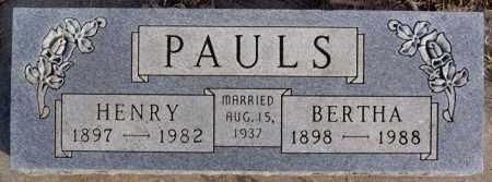 PAULS, BERTHA - Turner County, South Dakota   BERTHA PAULS - South Dakota Gravestone Photos