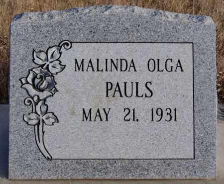 PAULS, MALINDA OLGA - Turner County, South Dakota   MALINDA OLGA PAULS - South Dakota Gravestone Photos