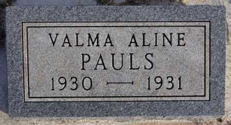PAULS, VALMA ALINE - Turner County, South Dakota   VALMA ALINE PAULS - South Dakota Gravestone Photos