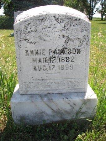 PAULSON, ANNIE - Turner County, South Dakota | ANNIE PAULSON - South Dakota Gravestone Photos