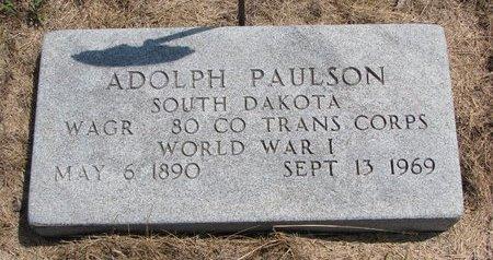 PAULSON, ADOLPH - Turner County, South Dakota   ADOLPH PAULSON - South Dakota Gravestone Photos