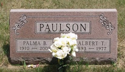 PAULSON, ALBERT T. - Turner County, South Dakota | ALBERT T. PAULSON - South Dakota Gravestone Photos