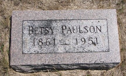PAULSON, BETSY - Turner County, South Dakota | BETSY PAULSON - South Dakota Gravestone Photos