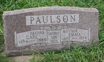 PAULSON, CARL - Turner County, South Dakota | CARL PAULSON - South Dakota Gravestone Photos