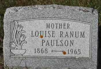 PAULSON, LOUISE - Turner County, South Dakota | LOUISE PAULSON - South Dakota Gravestone Photos