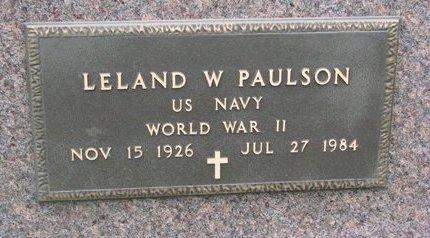 "PAULSON, LELAND W. ""BUD"" (MILITARY) - Turner County, South Dakota | LELAND W. ""BUD"" (MILITARY) PAULSON - South Dakota Gravestone Photos"