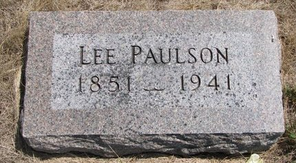 PAULSON, LEE - Turner County, South Dakota | LEE PAULSON - South Dakota Gravestone Photos