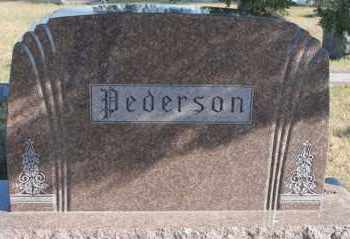 PEDERSON, FAMILY MARKER - Turner County, South Dakota | FAMILY MARKER PEDERSON - South Dakota Gravestone Photos