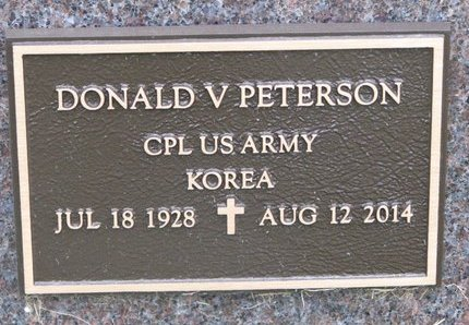 PETERSON, DONALD V. (MILITARY) - Turner County, South Dakota | DONALD V. (MILITARY) PETERSON - South Dakota Gravestone Photos
