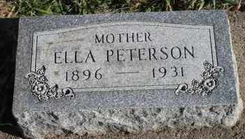PETERSON, ELLA - Turner County, South Dakota | ELLA PETERSON - South Dakota Gravestone Photos